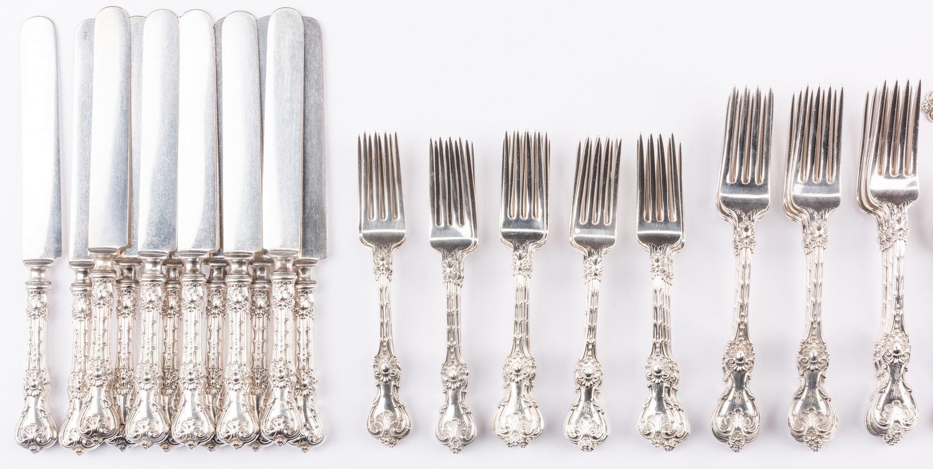 Lot 67: Whiting King Edward Flatware, Black, Starr & Frost retailer