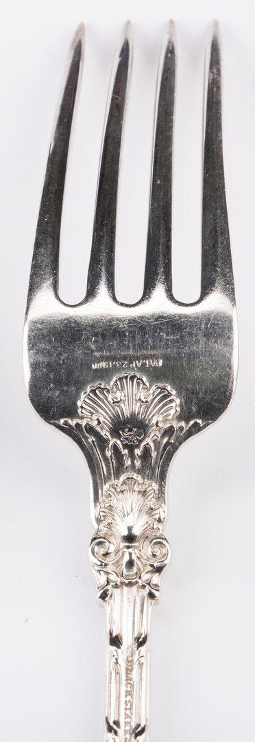 Lot 67: Whiting King Edward Flatware, Black, Starr & Frost retailer