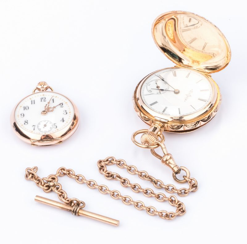 Lot 682: 2 14K Lady's Pocketwatches