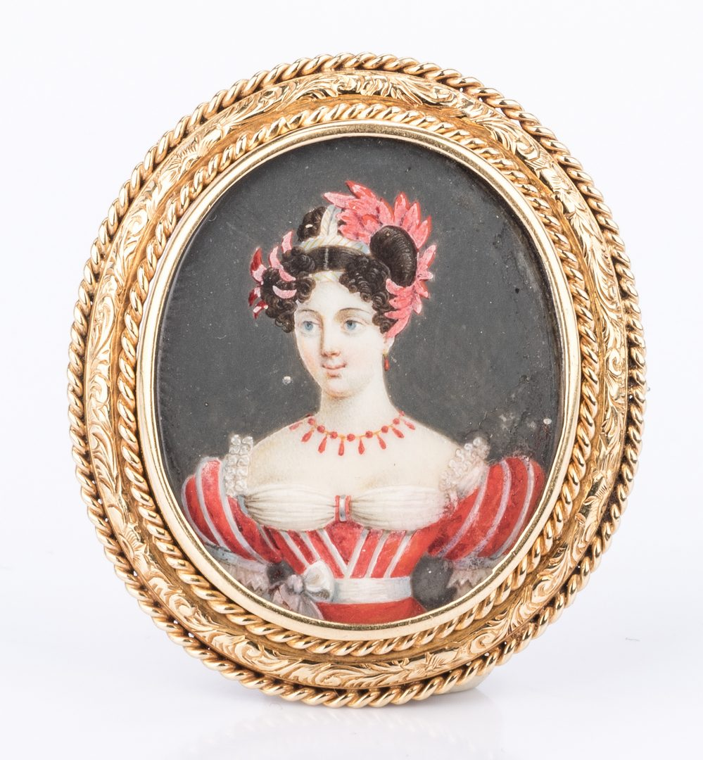 Lot 684: 10K Continental Portrait Miniature
