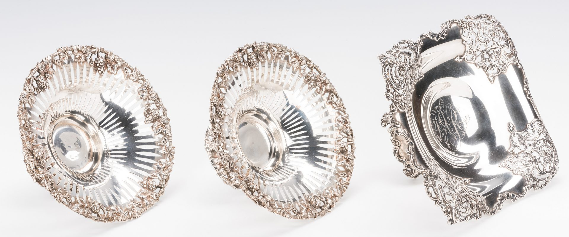 Lot 691: 3 Sterling Compotes