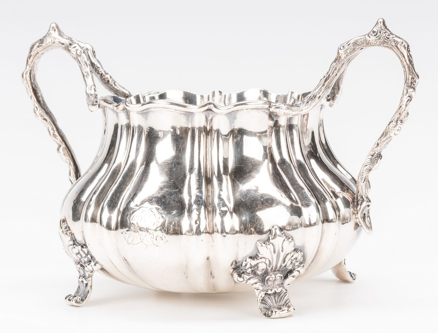 Lot 707: 2 Charles Gordon, London Sterling Silver Tea Service Items
