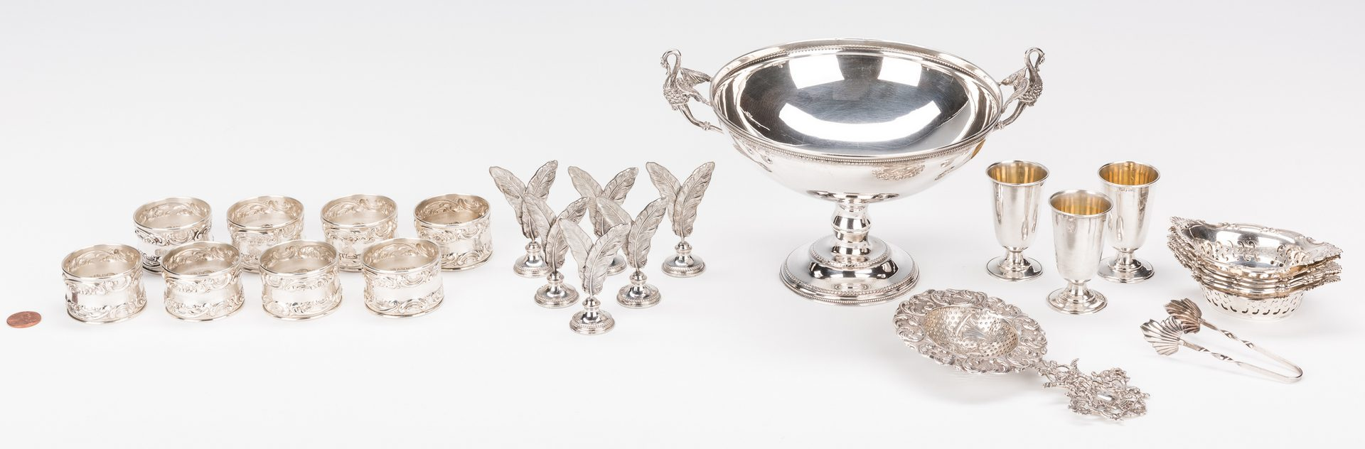 Lot 709: Group of Sterling; .800 Silver Items, 26 Pcs.