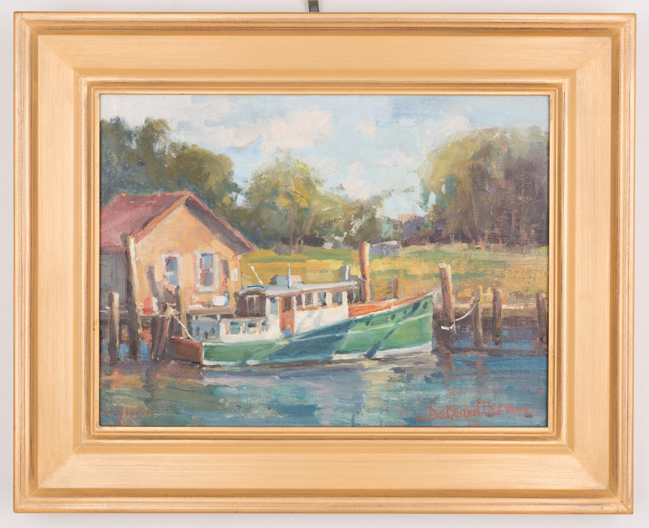 Lot 715: Dee Beard Dean, O.B, Maritime Painting