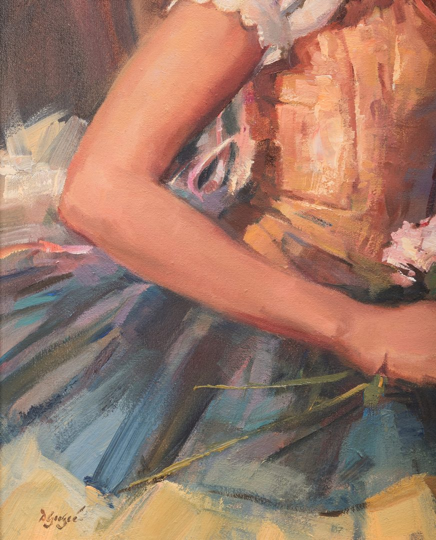 "Lot 716: Dan Goozee, O/C, ""Sara, Dancer at Rest"""