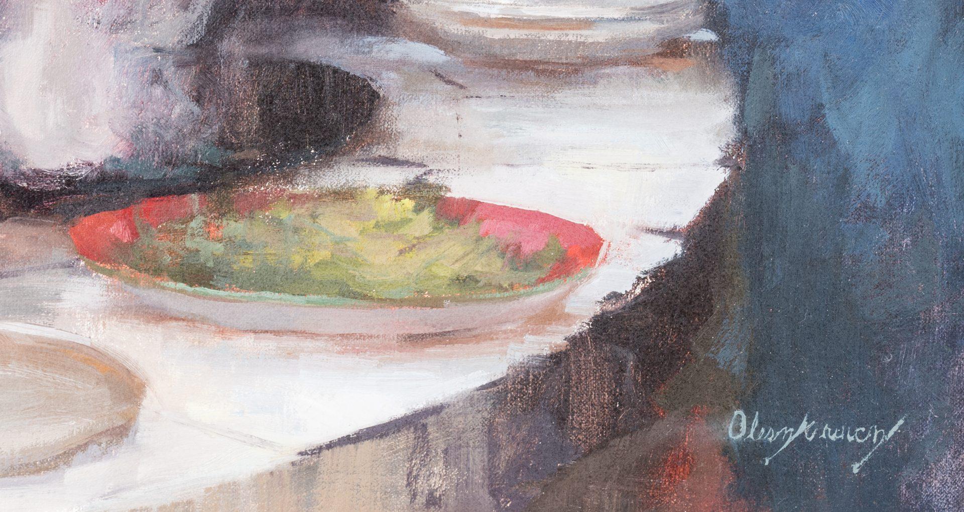 """Lot 717: Marci Oleszkiewicz, O/C, """"Awaiting Dinner"""""""