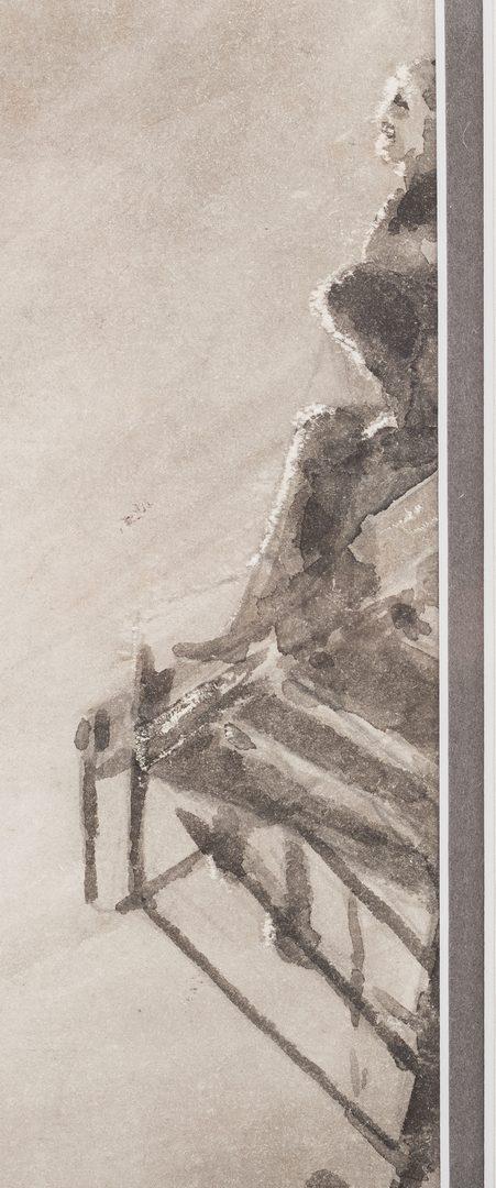 Lot 718: Gen. John Wm. Chamberlayne watercolor seascape