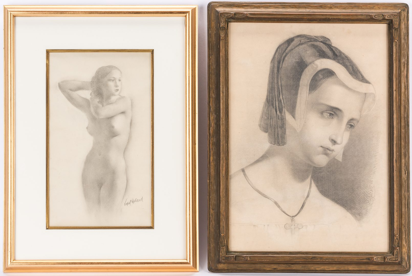 Lot 719: 2 Drawings, inc. Passini and Rolland