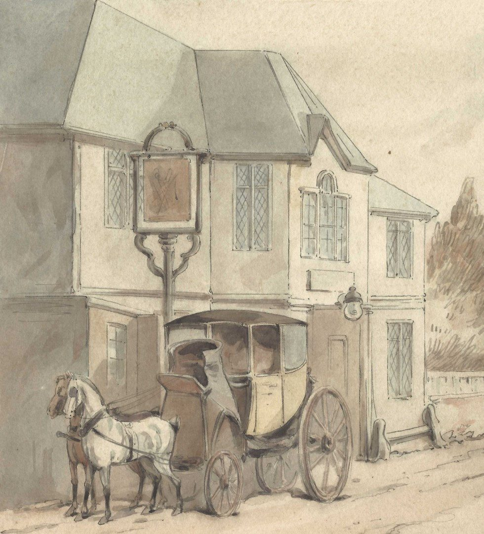 Lot 720: Thomas Rowlandson, W/C, Road to Abesford