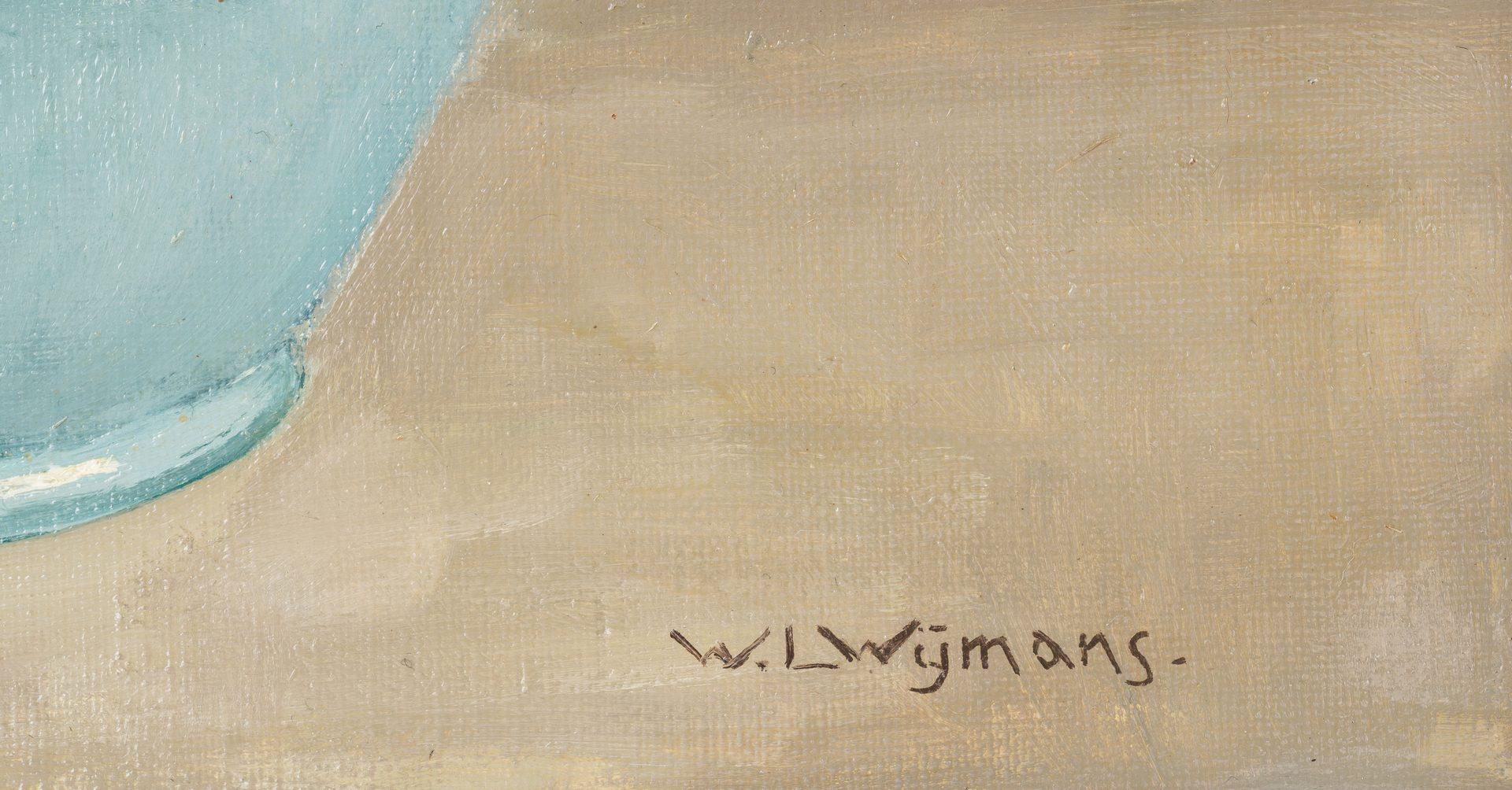 Lot 722: Willem Wijmans, O/C, Still Life Pansies