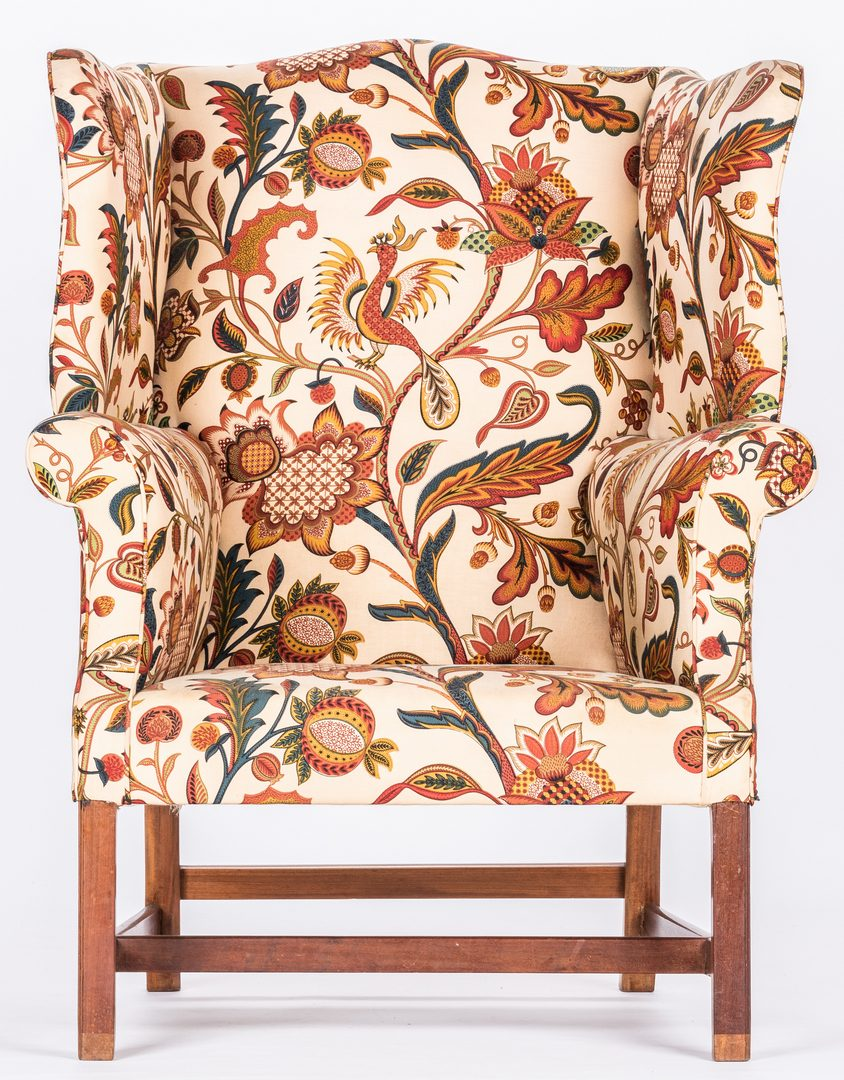 Lot 724: 2 Queen Anne Chairs & Hepplewhite Wing Chair