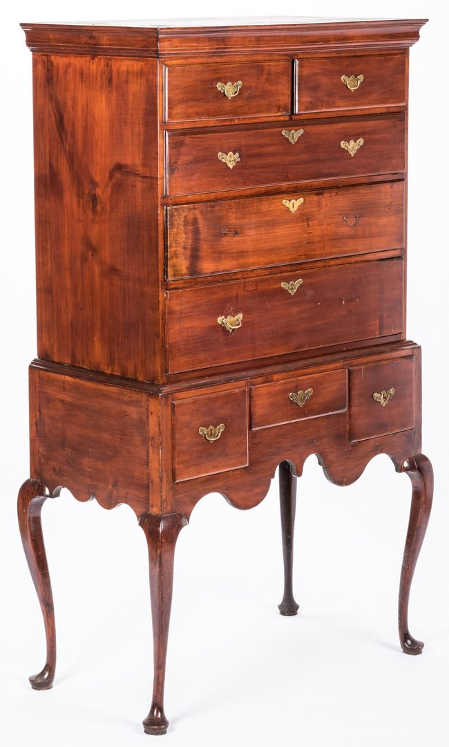 Lot 726: New England Queen Anne Highboy