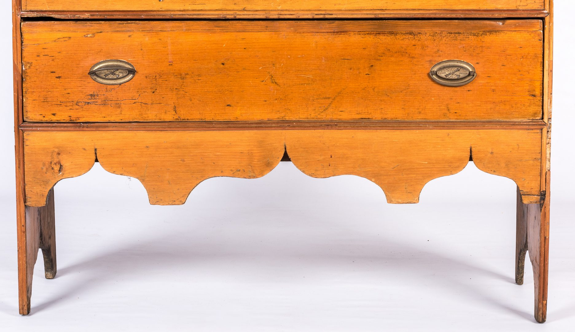 Lot 727: New England Tall Pine Blanket Chest, 18th Cent.