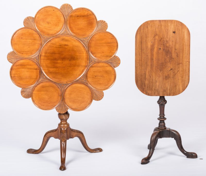 Lot 728: 2 English Mahogany Tables