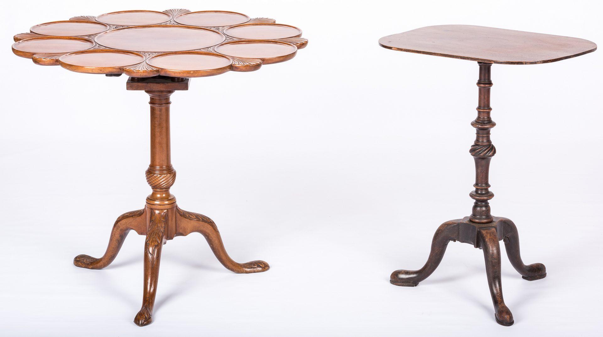 Lot 728: 2 English Mahogany Tables