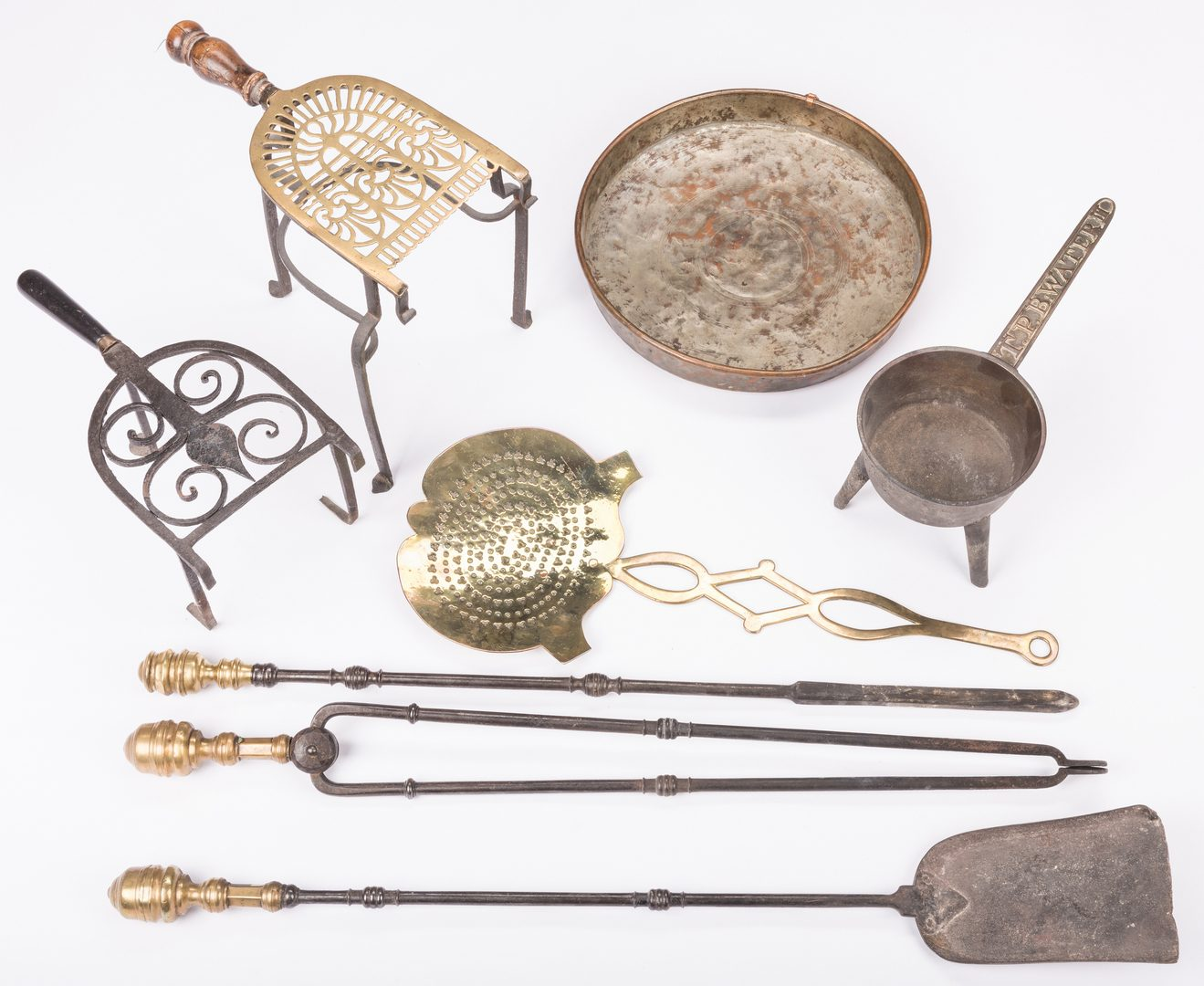 Lot 734: 8 Kitchen & Hearth Items, 18th/19th Century
