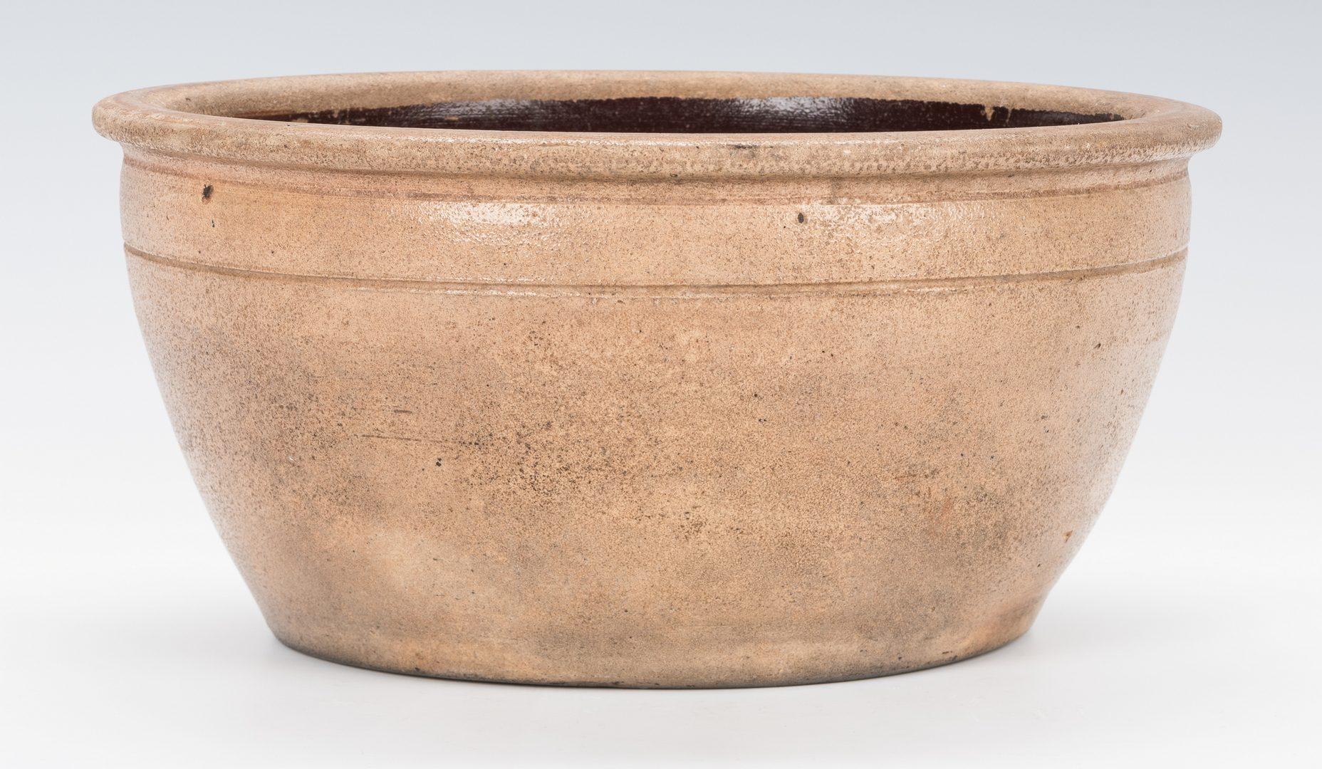 Lot 736: PA Stoneware Pottery Bowl, Cowden & Wilcox