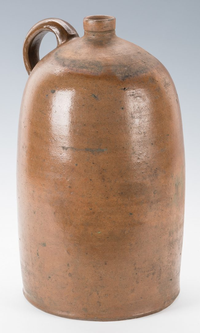 Lot 737: Indiana Stoneware Pottery Jug, G. Unser