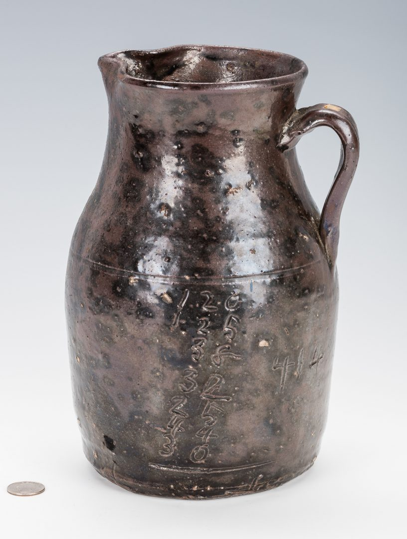 Lot 740: NC Alkaline Glazed Stoneware Pitcher