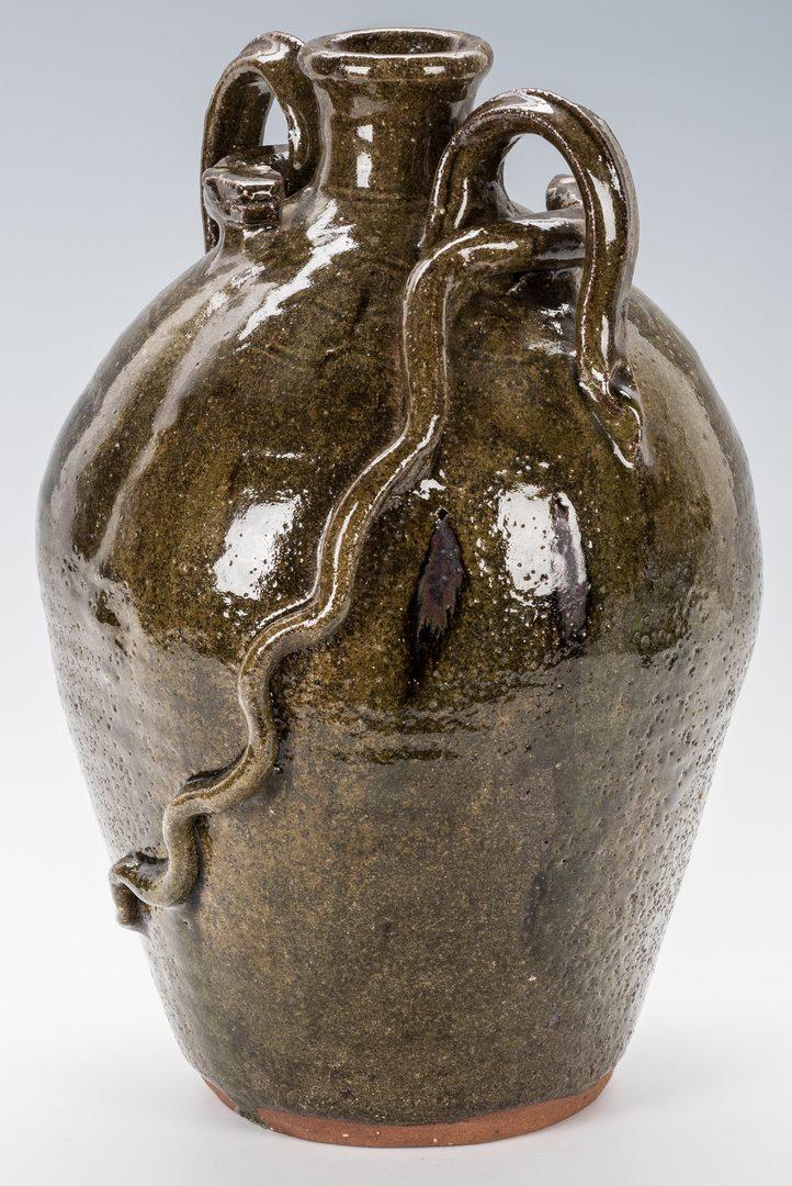 Lot 741: Burlon Craig NC Folk Pottery Snake Jug
