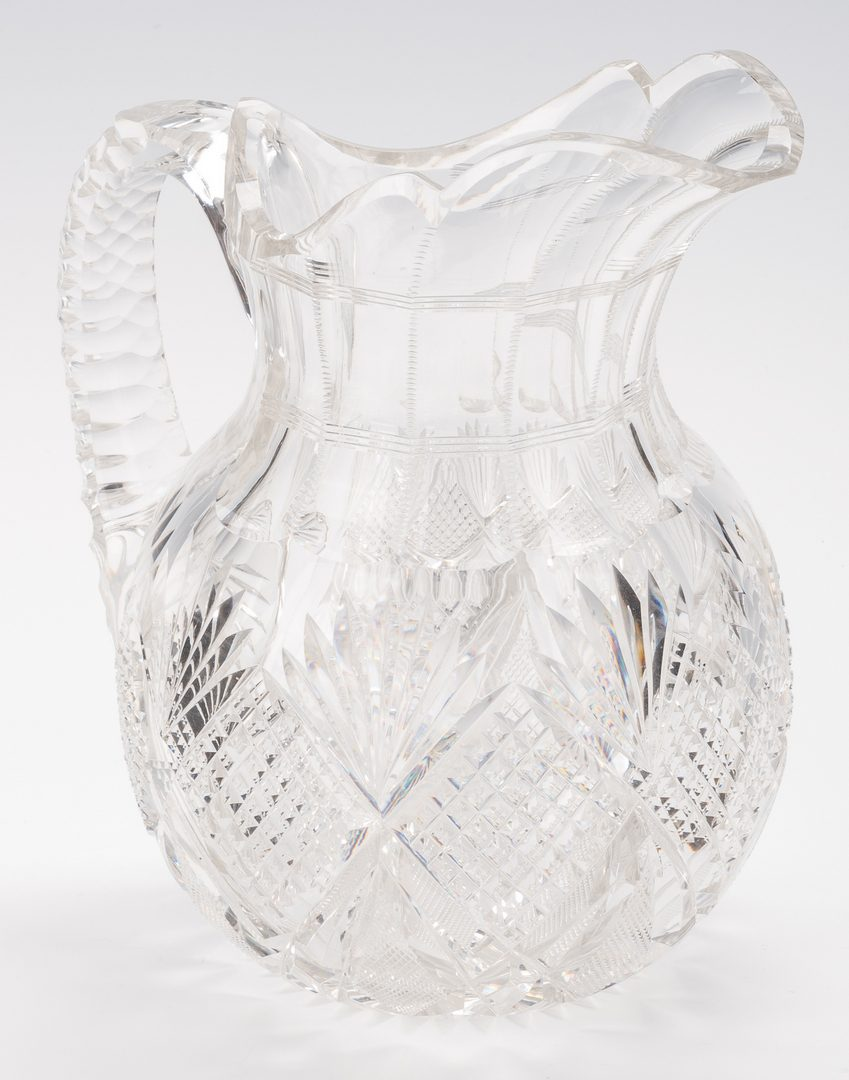 Lot 746: 4 American Brilliant Cut Crystal Items