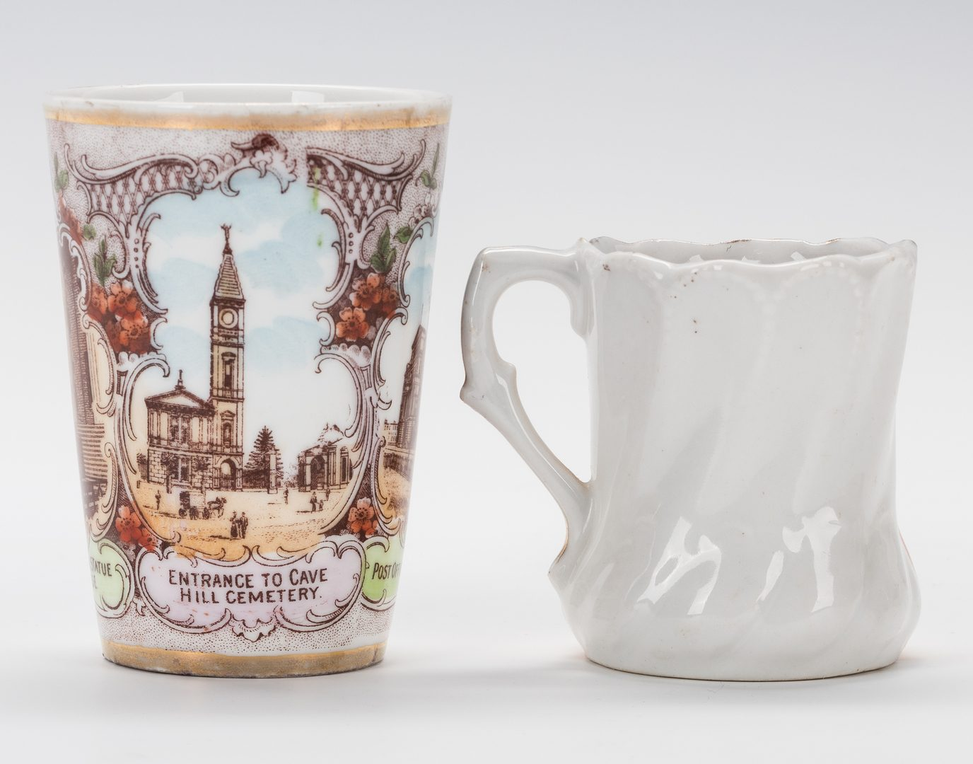 Lot 747: 3 Louisville, KY Souvenir Items, 19th c.