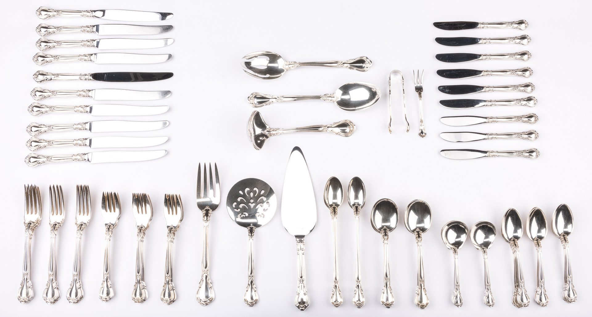 Lot 74: 74 Pcs Gorham Chantilly Flatware + 1 other