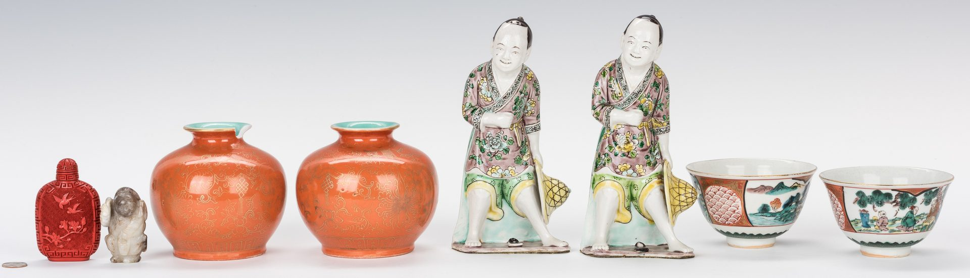 Lot 755: Group of 8 Asian Decorative Items