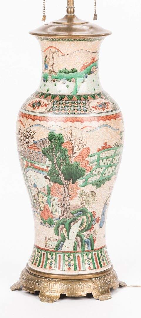 Lot 758: 3 Chinese Ginger Jar Lamps