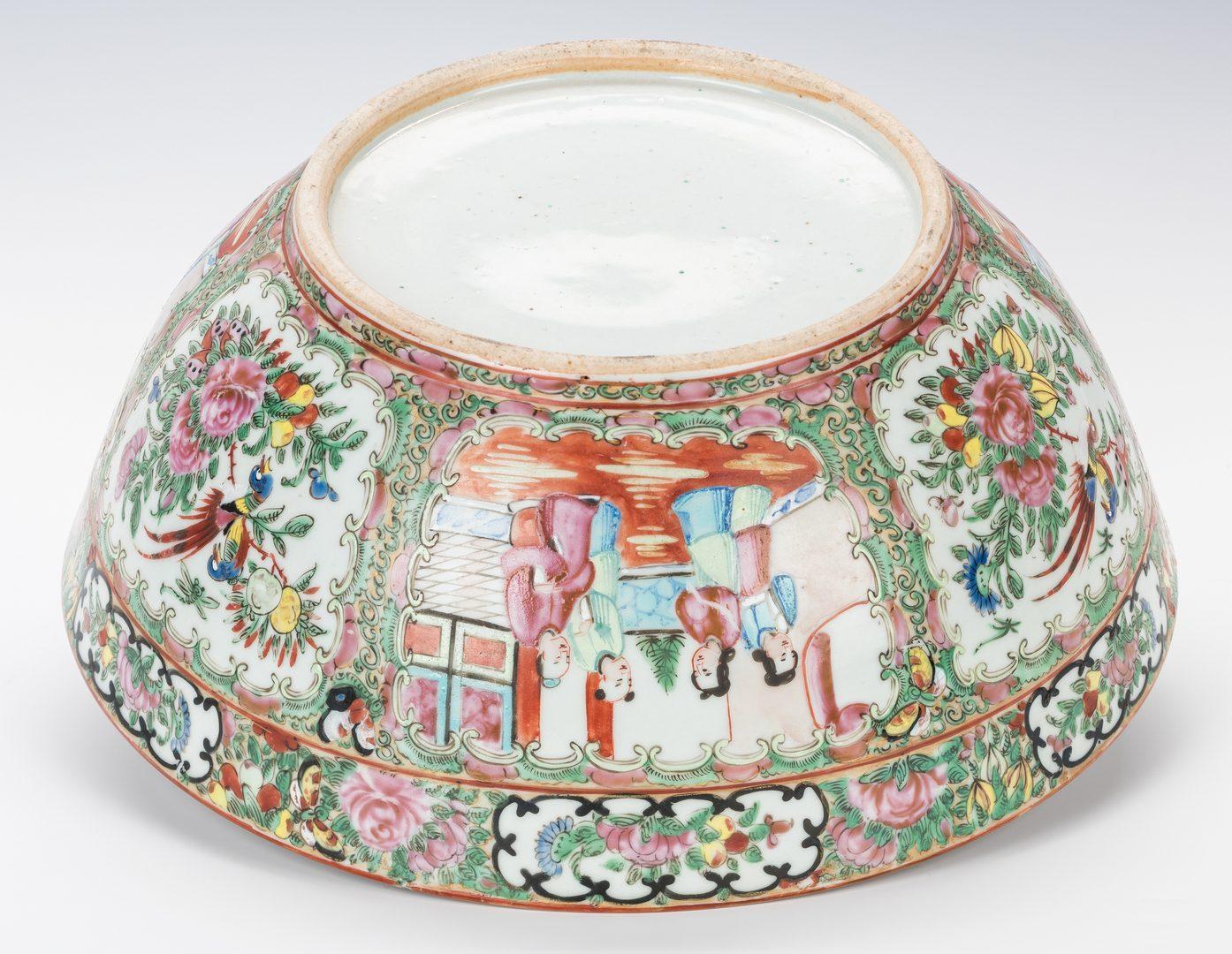 Lot 759: Rose Medallion Porcelain Punch Bowl