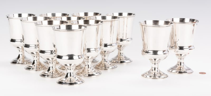 Lot 75: 12 Baltimore Silversmiths Sterling Goblets