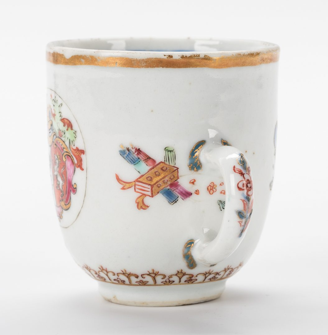 Lot 761: Chinese Export Armorial Cup & Saucer