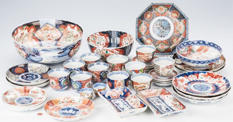 Lot 763: Group of 36 Japanese Imari or Arita Porcelain Pcs