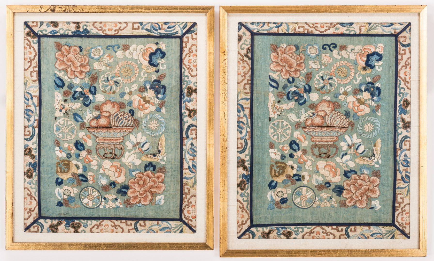 Lot 768: 2 Chinese Forbidden Stitch Embroideries