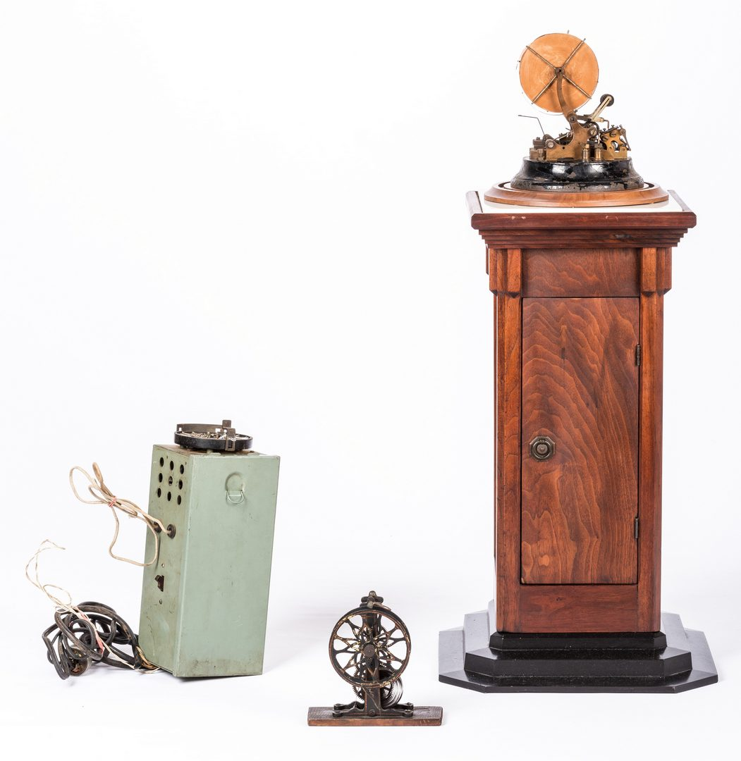 Lot 774: Western Union Model 2825 3-A Ticker Tape w/ Stand
