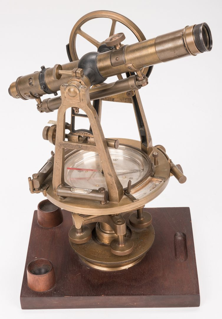 Lot 776: Brandis Transit Surveyor, 2 Stanley Sextants, & Gimbaled Compass, 4 items