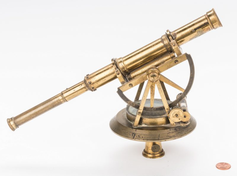 Lot 777: Brass Bate London Transit Compass