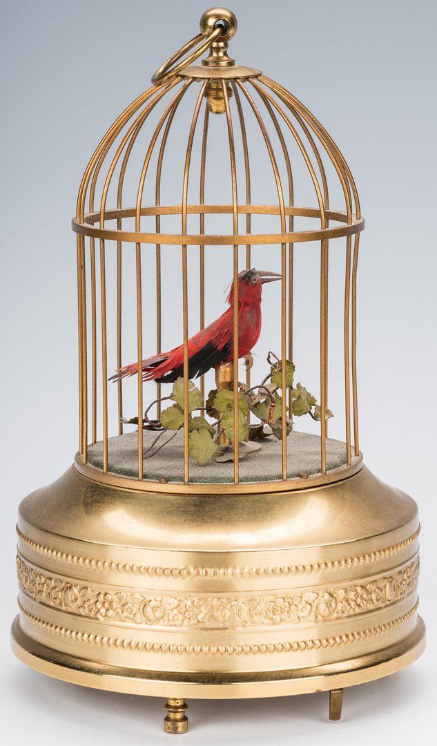 Lot 781: Kalliope Music Box w/discs inc. Silent Night, plus Bird Automaton