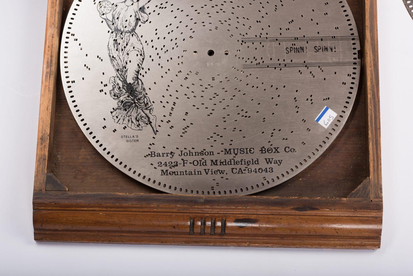 Lot 786:  Stella Tabletop Disc Music Box