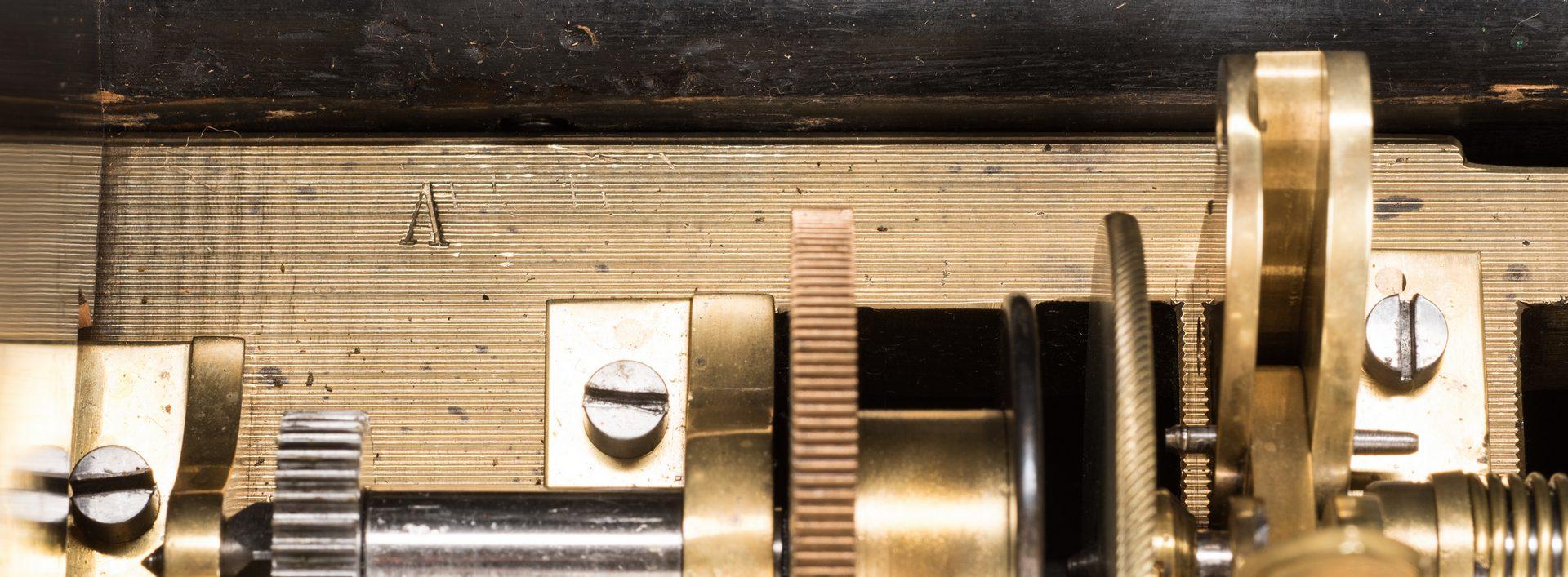Lot 788: Bremond Swiss Music Box w/ Inlaid Case