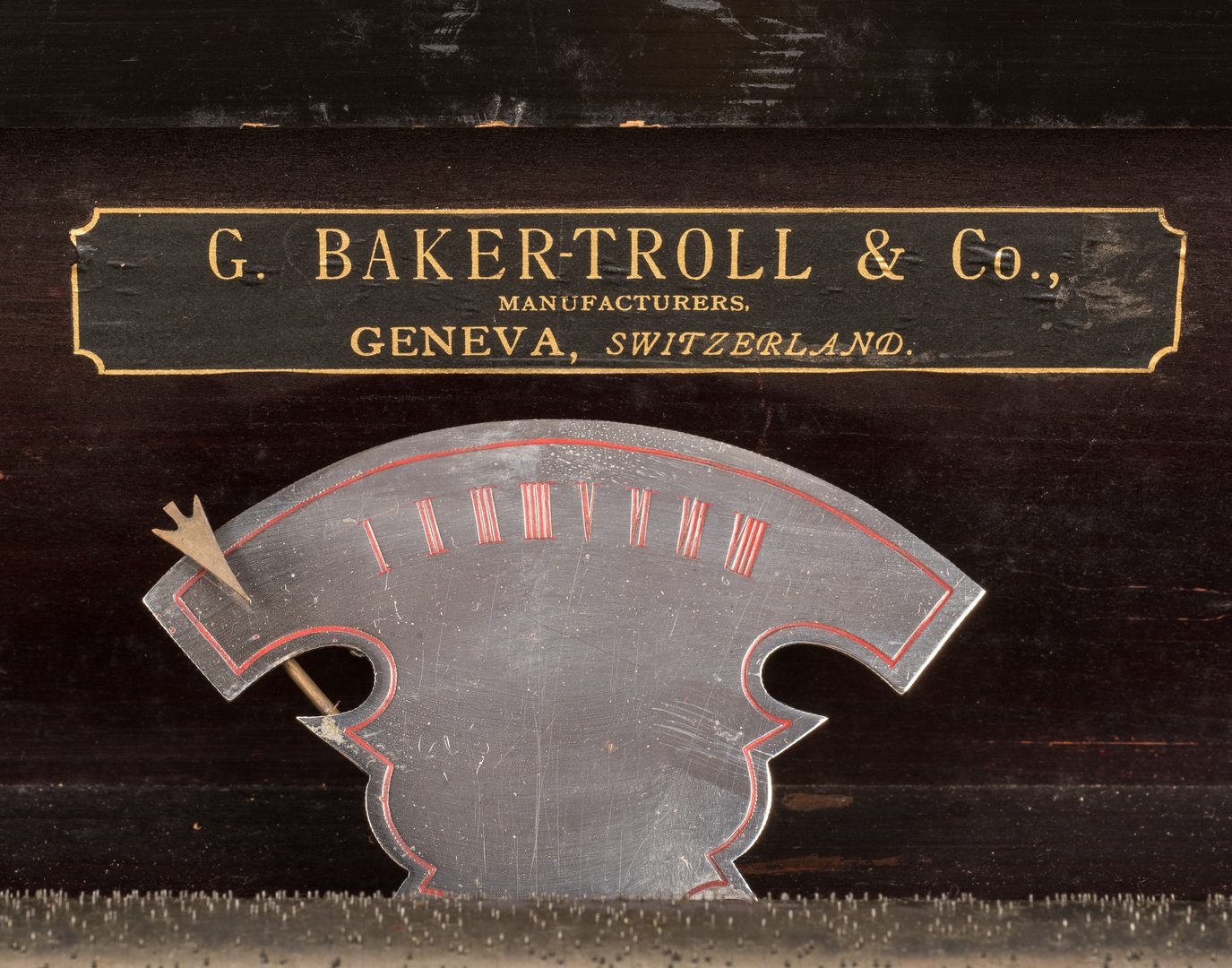 Lot 789: George Baker Troll  Co. Cylinder Music Box