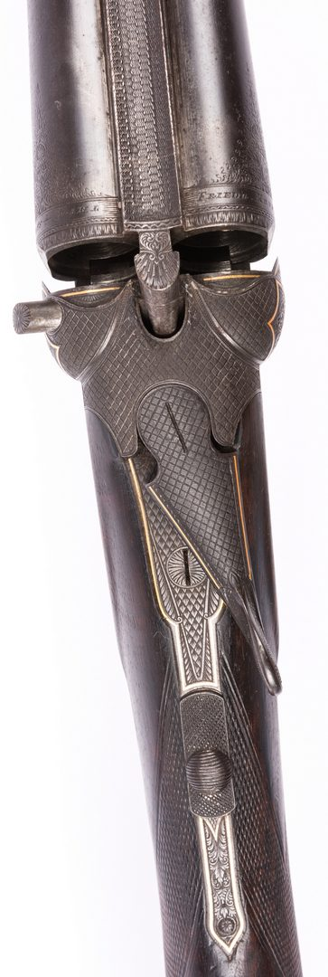 Lot 792: German Philipp Reeb Relief Engraved Double Shotgun, Early 20th century