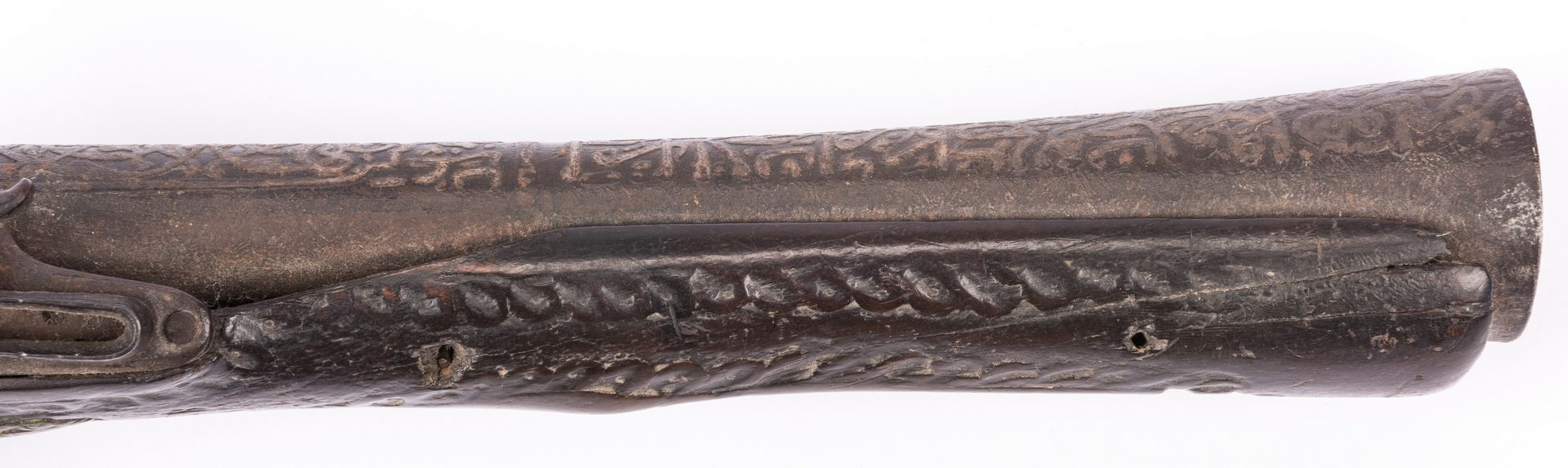 Lot 798: Middle Eastern Flintlock Blunderbuss Pistol