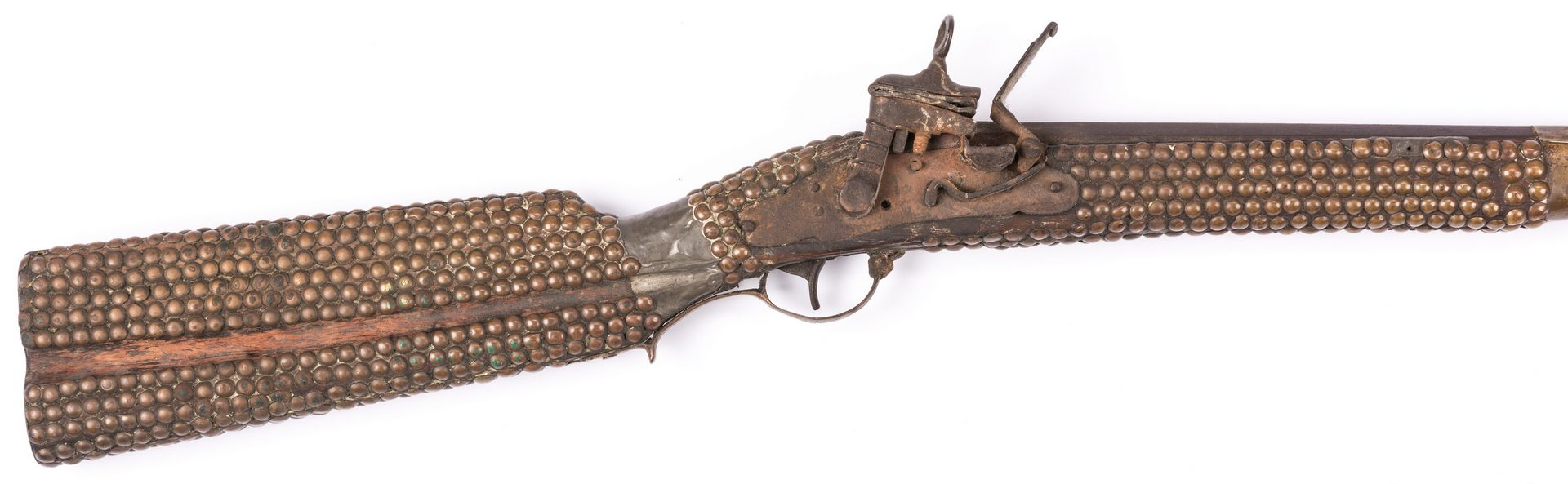 Lot 799: Portuguese Lazaro Lazarino Flintlock Long Rifle