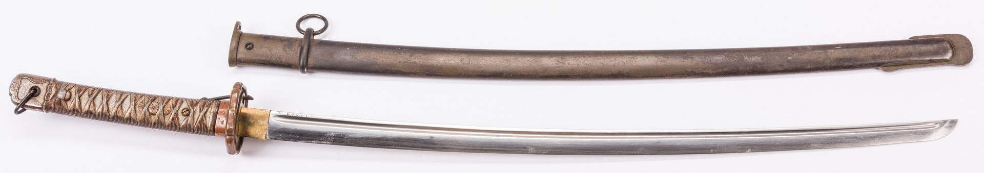 Lot 801: Japanese Type 95 NCO Sword & Welterbach Knife, 2 items