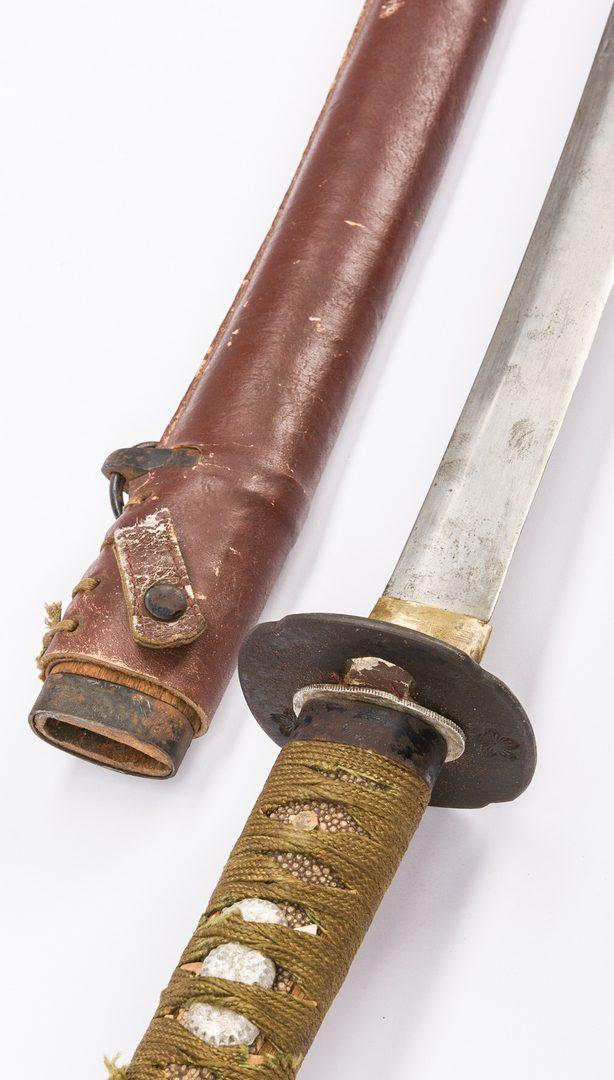 Lot 802: WWII Japanese Infantry Shin-gunto Sword w/ scabbard