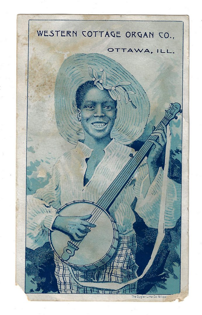 Lot 805: 49 Black Americana Trade Cards and Postcards