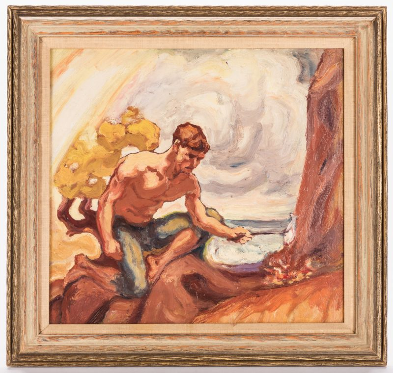 Lot 807: John Phelps Pette, O/B, Outdoor Scene