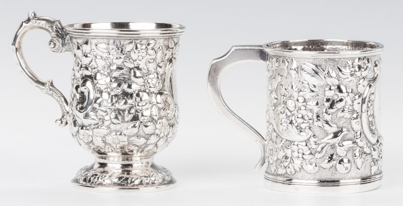 Lot 80: 2 Baltimore Coin Silver Mugs