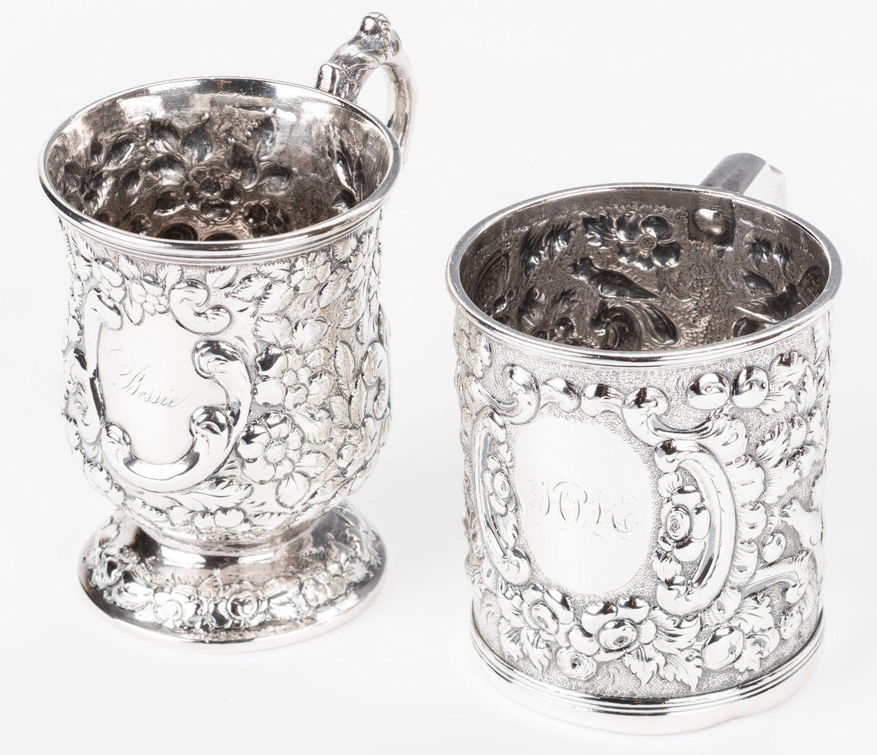 Lot 80: 2 Baltimore Coin Silver Mugs